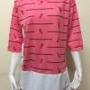 เสื้อผ้าคนอ้วนคอกลม ABC Fashion สีชมพู
