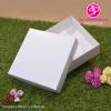กล่องฝาครอบ ไม่มีหน้าต่าง สีขาว ขนาด 13.6 x 13.6 x 3.3 ซม. (บรรจุ 50 กล่องต่อแพ็ค)