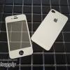 ฟิล์มกระจก iPhone4/4s ลายเพชร สีเงิน