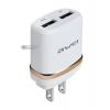 หัวชาร์จ Awei C-920 2.1A USB 2 ช่อง สีทอง