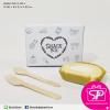 กล่อง Snack ลายหัวใจ สีขาว ขนาด 12 x 16.5 x 6 ซม. (บรรจุ 50 กล่องต่อแพ็ค)
