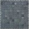 HHMA-T09 Tumbled SuperBlack หินซูเปอร์แบล็คผิวโม่ ขนาดหินภายใน 2.3x2.3 ซม - ขนาดชิ้นงาน 30x30 ซม