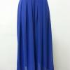 กางเกงผ้าชีฟอง สีน้ำเงิน