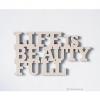 ตัวหนังสือฉลุไม้ Wall art sign - Life is beautifull