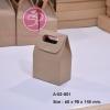 A-02-001 : กล่องทรงถุง ขนาด 6.0(W) x 9.8(L) x ความสูงถึงขอบ 7.5(H1) ซม.(สูงถึงยอด 14.5(H2) ซม.) ; (ขนาด S)