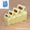กล่องของขวัญทรงหูหิ้ว สีเหลือง มี 4 ขนาด (บรรจุ 50 กล่องต่อแพ็ค)