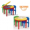 โต๊ะเลโก้ ทรงกลม Tot Tutors 2-in-1 Plastic Construction Table & Chair Set