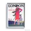 Reproduction Vintage Poster-LONDON FEB.