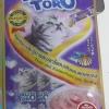 ขนมครีมแมวเลีย toro toro ทูน่าและปลาโออบแห้งผสมหอยเชลล์ แพค15g.5ซอง หนึ่งโหล 590รวมส่ง