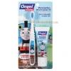 ชุดยาสีฟันพร้อมแปรงเด็กโต แบบกลืนได้ Orajel Toddler Training Toothpaste with Toothbrush, Tooty Fruity (Thomas)