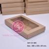 กล่องฝาครอบขนาด 20.0 x 33.0 x 5.0 ซม. สีธรรมชาติ มีหน้าต่าง (บรรจุ 50 กล่องต่อแพ็ค)