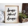 วอลล์อาร์ตตัวอักษร 3D กรอบไม้ Home Sweet Home