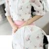 รหัส MN40 เสื้อสไตล์เกาหลี ผ้าชีฟองผสมลูกไม้พิมพ์ลาย