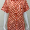 เสื้อลายสก๊อต Patino Fashion สีส้ม