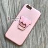 เคส iPhone 6/6s Plus เพชรล้อมแหวนหมี สีชมพู BKK
