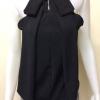เสื้อแขนกุดคอเต่าผ้าชีฟอง สีดำ
