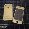 ฟิล์มกระจก iPhone4/4s ลายกระจกเงา สีทอง