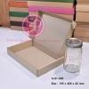 กล่องลูกฟูกลอนเล็ก สีน้ำตาล ขนาด 19.5 x 30.5 x 4.5 ซม. (บรรจุ 50 กล่องต่อแพ็ค)