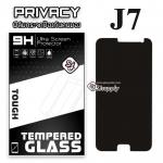 ฟิล์มกระจก Samsung J7 (Privacy) (ฟิล์มกันเสือก)