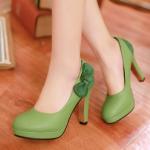 พร้อมส่ง รองเท้าแฟชั่น สีเขียว ไซส ์ 37 รหัส PP-AL-22881