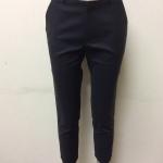 กางเกงขา 5 ส่วน ผ้าดับเบิ้ล สีดำ(แถบครีม)