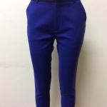 กางเกงขา 5 ส่วน ผ้าดับเบิ้ล สีน้ำเงิน