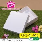 CN2-01-012 : กล่องฝาครอบ ขนาด 13.6 x 13.6 x 3.3 ซม. ไม่มีหน้าต่าง