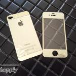 ฟิล์มกระจก iPhone4/4s ลายเพชร สีทอง