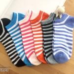 เซตถุงเท้า ลายทาง สีผสม ( 6 คู่ )
