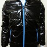 เสื้อแจ็คเก็ตผ้าร่มมีฮู้ด สีดำ