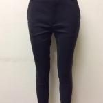 กางเกงขา 5 ส่วน ผ้าดับเบิ้ล สีดำ(แถบน้ำตาล)