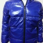 เสื้อแจ็คเก็ตผ้าร่มมีฮู้ด สีน้ำเงิน
