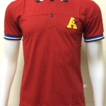 เสื้อโปโลแฟชั่นผู้ชาย สีแดง