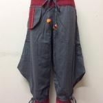 กางเกงผ้าพื้นเมืองภาคเหนือ ทรงสะกา สีเทาอ่อน