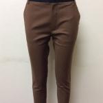 กางเกงขา 5 ส่วน ผ้าดับเบิ้ล สีน้ำตาล