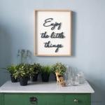 วอลล์ลอาร์ต ป้ายอักษร - Enjoy the little things