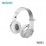 หูฟังอัจฉริยะ 2in1 เป็นลำโพงบลูทูธได้ SODO MH1 สีเงิน