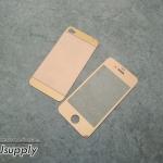 ฟิล์มกระจก iPhone4/4s ลายเพชร สีโรสโกล์ด