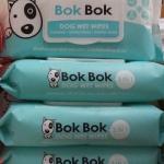 Bok Bok ทิชชูเปียก เช็ดทั้งตัว สำหรับหมา 4ห่อ 720รวมส่ง