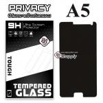ฟิล์มกระจก Samsung A5 (Privacy) (ฟิล์มกันเสือก)