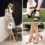Preorder รองเท้าแฟชั่น สไตล์เกาหลี 34-43 รหัส SK-9663