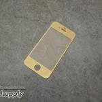 ฟิล์มกระจก iPhone4/4s 2in1 สีทอง