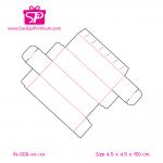 กล่องฝาลิ้น ขนาด 4.5 x 4.5 x 15.0 ซม. มี 13 สีให้เลือก ; บรรจุแพ็คละ 50 กล่อง