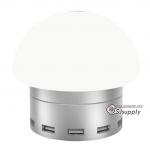 โคมไฟ Awei C-910 พอร์ตชาร์จ 6 USB สัมผัส สีเงิน