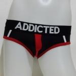 Addicted Bikini สีดำ ขลิบแดง