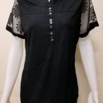 เสื้อคอกลมแขนสั้น สีดำ By MEENA