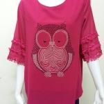 เสื้อคอกลมผ้าชีฟอง สีแดง BY Kut Katawetee