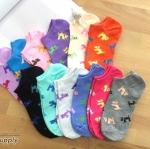 เซตถุงเท้า ลายสุนัข สีผสม ( 6 คู่ ) คละสีได้