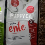 Happy cat sensitive glutenfree Ente 300g. 159รวมส่ง