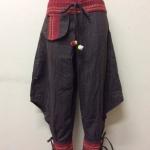 กางเกงผ้าพื้นเมืองภาคเหนือ ทรงสะกา สีน้ำตาล